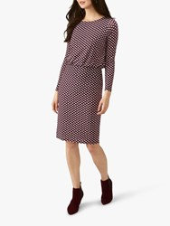 Pure Collection Jersey Blouson Dress Burgundy