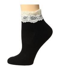 Bootights Performance Lace Sock Cream Women's Crew Cut Socks Shoes Beige