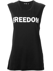 Blk Dnm Freedom Print Tank Top Black