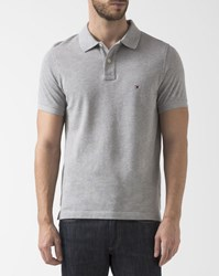 Tommy Hilfiger Slim Fit Grey Stripe Reverse Collar Polo