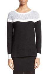 St. John Women's Collection Technical Mesh Stitch Sweater