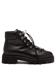 Nicholas Kirkwood Delfi Faux Pearl Toggle Leather Hiking Boots Black