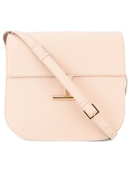 Tom Ford T Clasp Shoulder Bag Women Calf Leather One Size Pink Purple