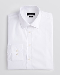 The Men's Store At Bloomingdale's Pique Solid Dress Shirt Slim Fit White