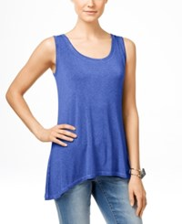 Inc International Concepts High Low Tank Top Only At Macy's Goddess Blue