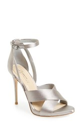 Imagine By Vince Camuto Women's Dairren Strappy Sandal Dove Grey Satin
