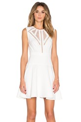 Bcbgmaxazria Detail Mini Dress White