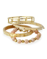 Ashley Pittman Faulu Light Horn Bangles Set Of 4
