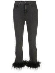 Veronica Beard Kareena Feather Embellished Jeans 60