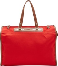Tramontano Canvas Roll Up Tote Red