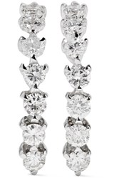Ana Khouri Time 18 Karat White Gold Diamond Earrings One Size