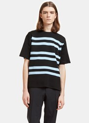 Acne Studios Keris Striped Rib T Shirt Black