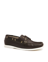 Frank Wright Boat Shoes Brown