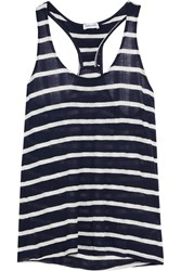 Splendid Huntington Striped Jersey Tank Navy