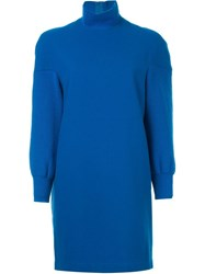 Comme Des Gara Ons Vintage Polo Neck Dress Blue