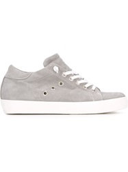 Leather Crown Classic Lo Top Sneakers Grey