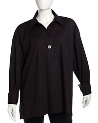 Go Silk One Button Long Sleeve Tunic Women's