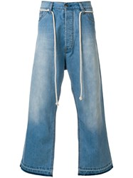 Societe Anonyme Giant Cropped Jeans Blue