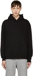 John Elliott Black Oversized Cropped Sacrifice Hoodie