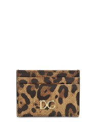 Dolce And Gabbana Leopard Print Leather Card Holder