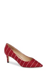 Callisto Hit Pan Pump Red Stripe Fabric