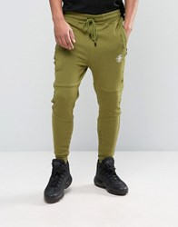 Dxpe Chef Logo Joggers With Distressing Khaki Green