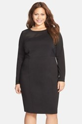 Carmakoma 'Kulde' Mesh Inset Body Con Dress Black