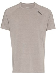 2Xu Heat Panel Detail T Shirt Grey