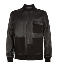 T By Alexander Wang Leather Bomber Jacket Male Black