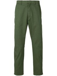 Pence Cropped Trousers Green