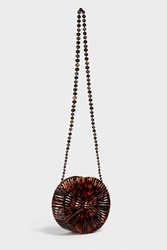 Cult Gaia Luna Acrylic Shoulder Bag Brown