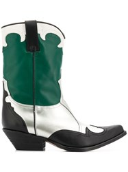 Emporio Armani Pointed Campero Boots Green