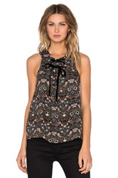 Marc By Marc Jacobs Strawberry Thief Tie Front Tank Black