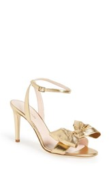 Kate Spade Women's New York 'Idella' Bow Sandal Old Gold Metallic Nappa