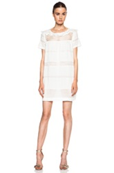 Etoile Isabel Marant Isabel Marant Etoile Caleen Cotton Blend Voile Vintage Dress In White