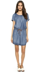 Bella Dahl Raglan T Shirt Dress Evening Mist Wash
