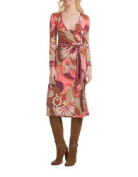 Trina Turk Hush Wrap Dress Pink
