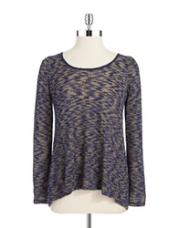 Casual Couture By Green Envelope Split Back Layered Pullover Grey