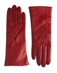 Lord And Taylor Leather Gloves Cherry