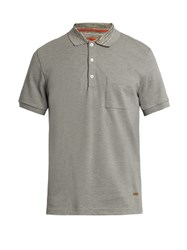 Missoni Patch Pocket Short Sleeved Polo Shirt Grey Multi