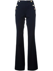 Michael Michael Kors Flared Trousers Blue