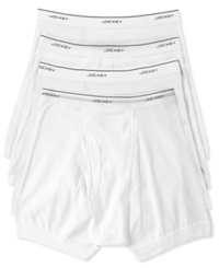 Jockey Men's Classic Collection Boxer Briefs 4 Pack White