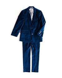 Appaman Boys' Two Piece Mod Velvet Suit 2 14 Blue