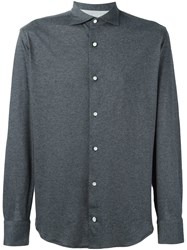 Eleventy Longsleeved Shirt Grey