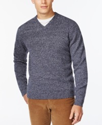 Weatherproof V Neck Wool Sweater
