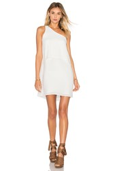 Krisa One Shoulder Mini Dress White