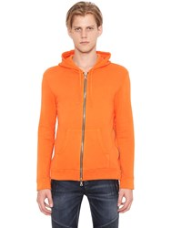 Balmain Zipped Hooded Cotton Jersey Sweatshirt