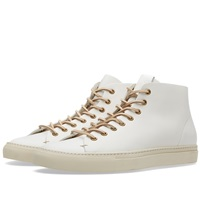 Buttero Tanino Mid Leather Sneaker White