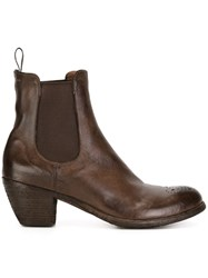 Officine Creative Mid Heel Ankle Boots Brown
