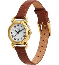 Links Of London 6010.2170 Driver Mini Stainless Steel And Leather Watch Brown